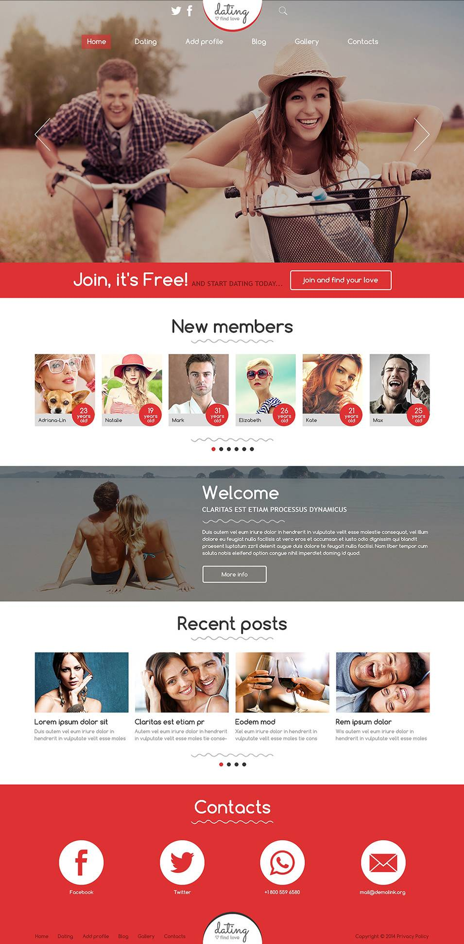 Joomla Dating Site Template
