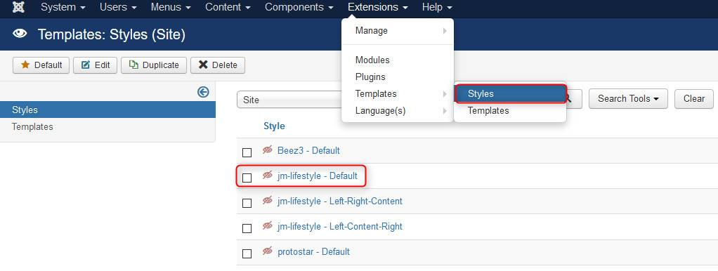 Joomla Email Template Editor