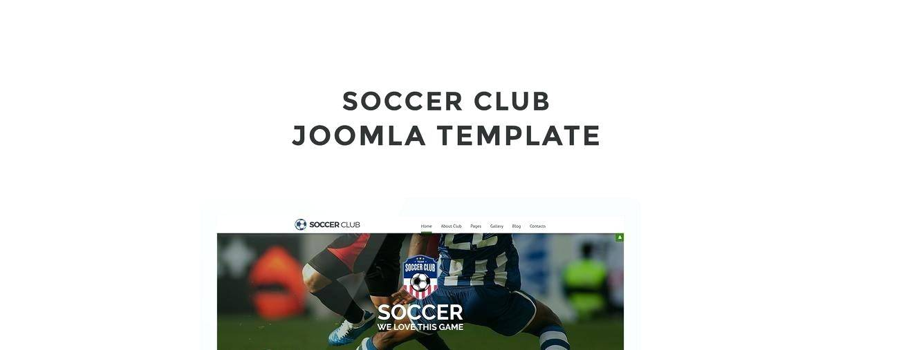 Joomla Football Club Template