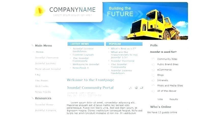 Joomla Intranet Portal Template