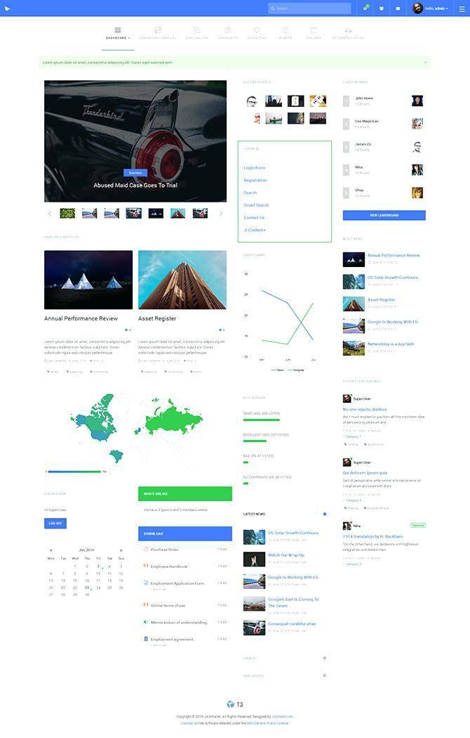 Joomla Intranet Template Free Download