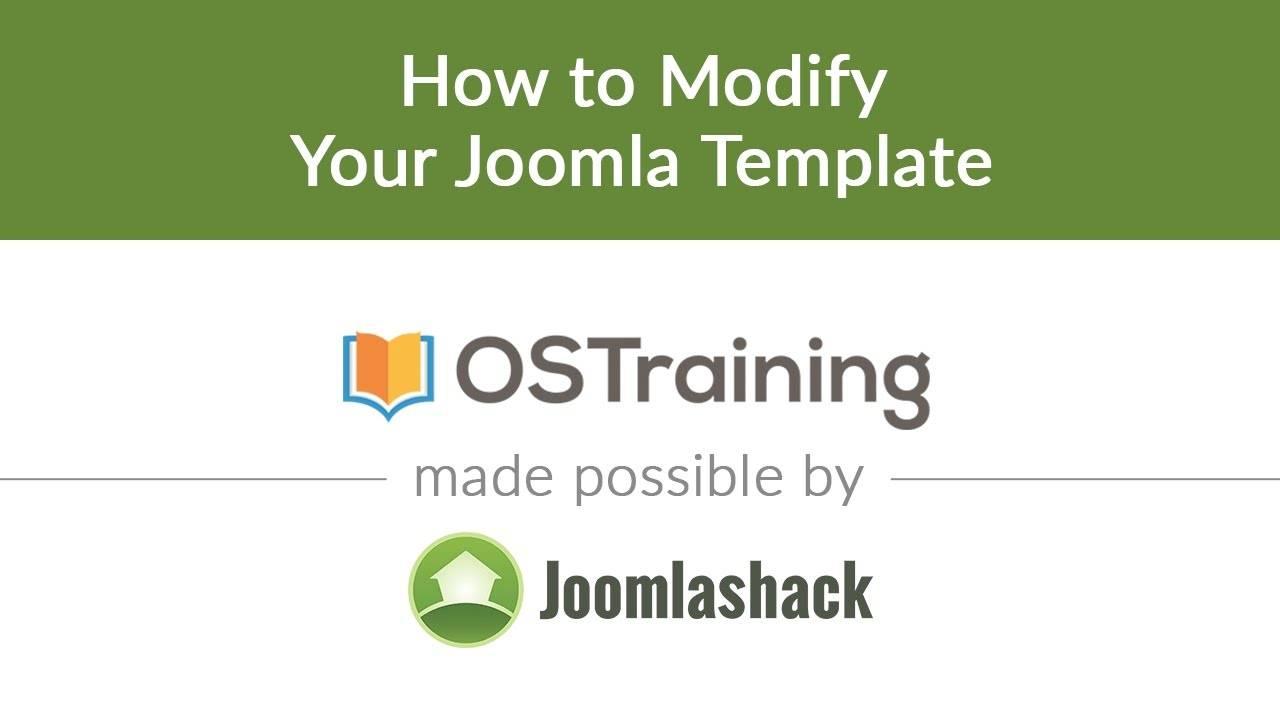 Joomla Modify Template