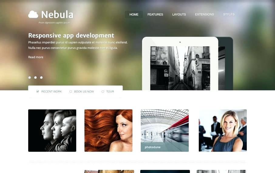 Joomla Photography Template Nulled