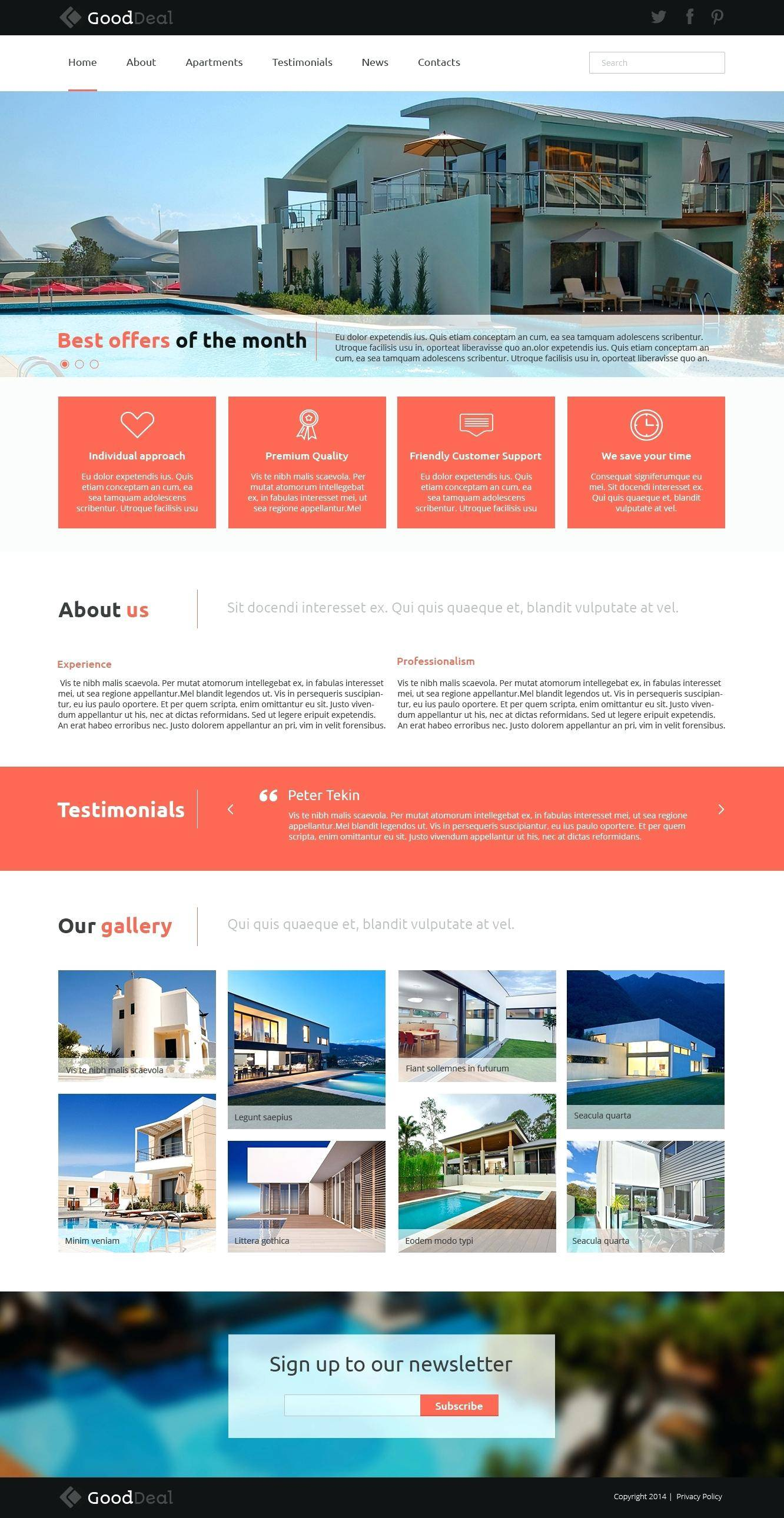 Joomla Real Estate Portal Template