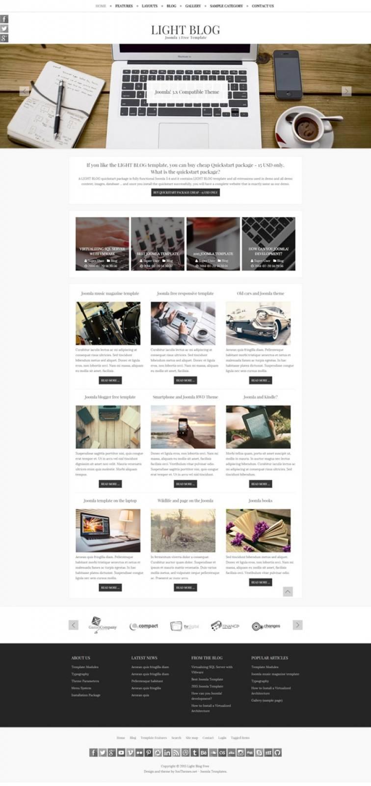 Joomla Responsive Template Free Blog