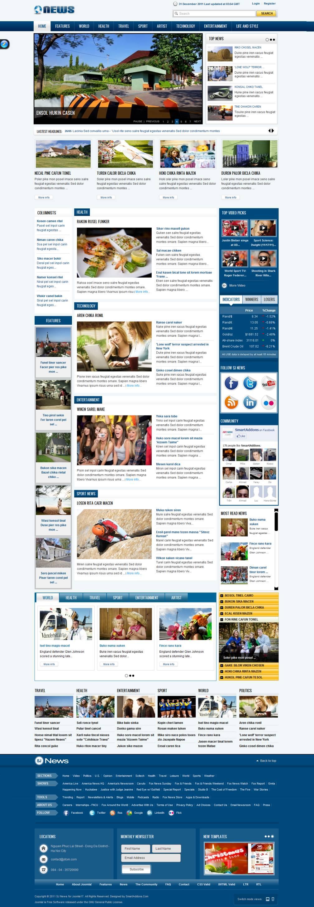 Joomla Responsive Templates Free Download 3.4