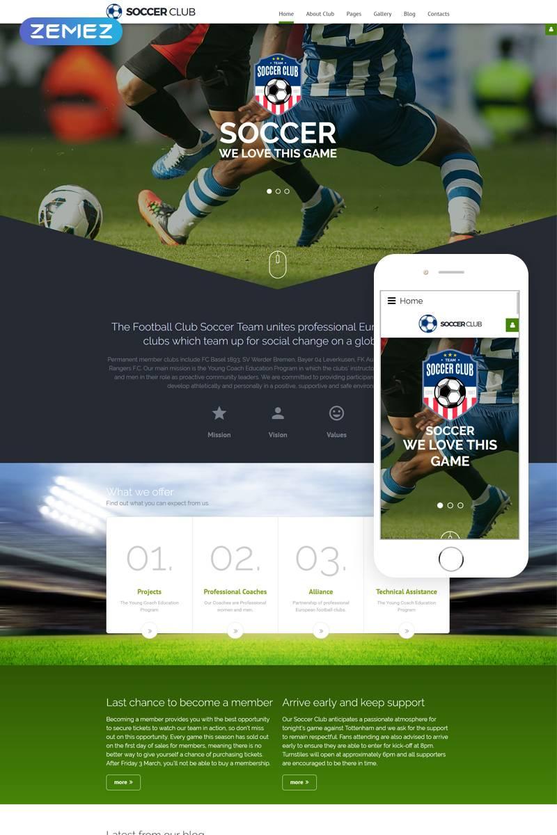 Joomla Soccer Club Template