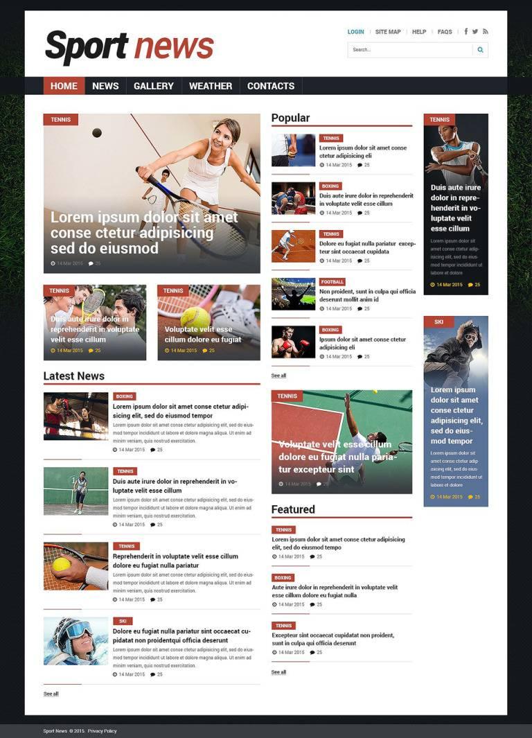 Joomla Sports News Template