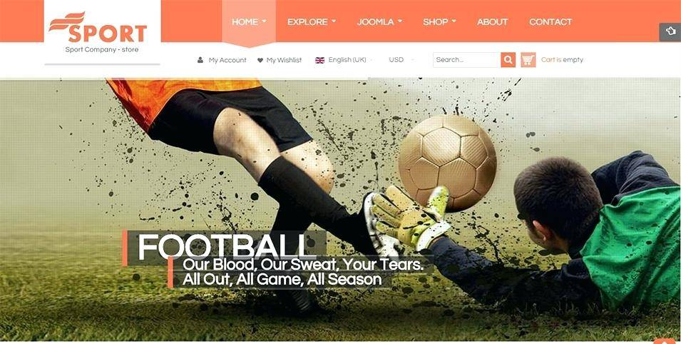 Joomla Sports Team Template