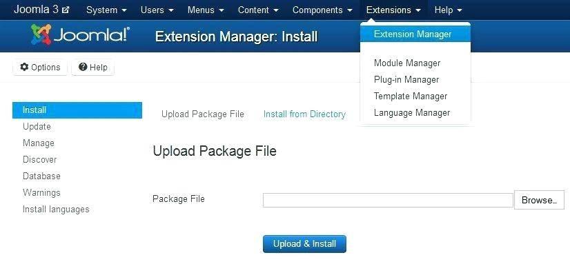 Joomla Template Directory Listing