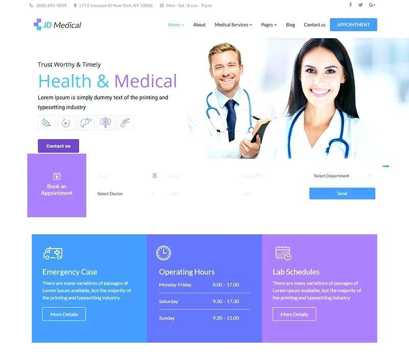 Joomla Template Medical Free Download