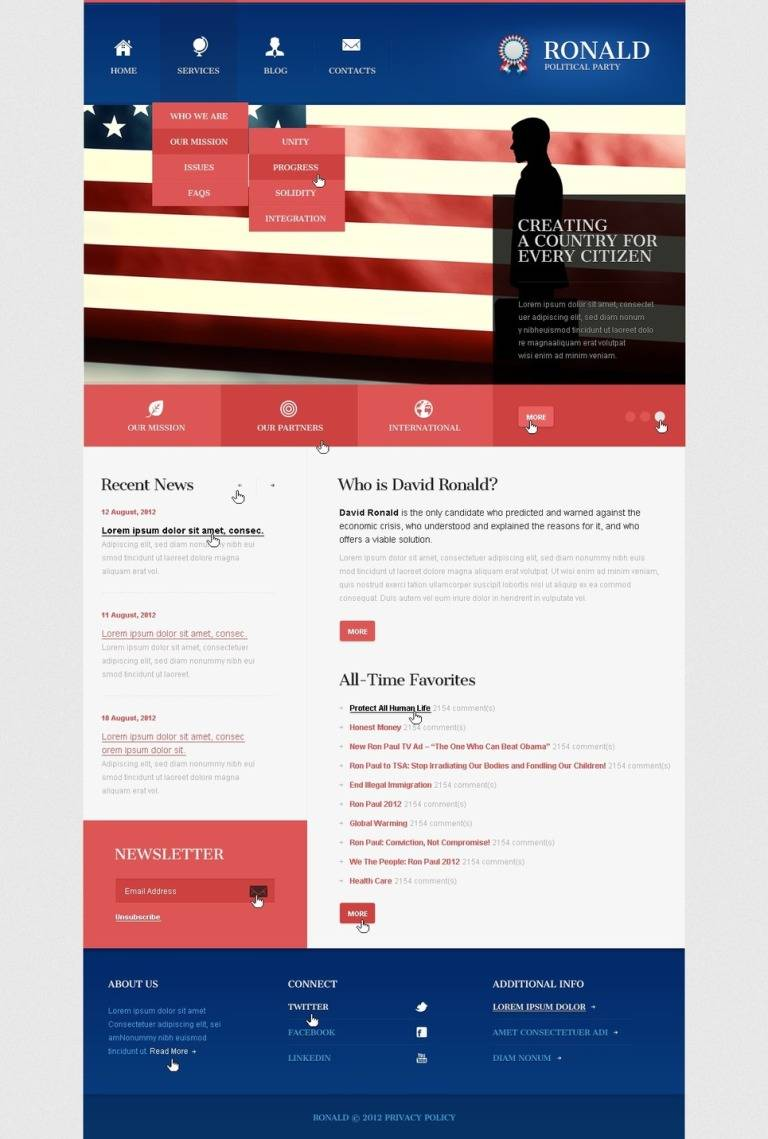 Joomla Template Political Party
