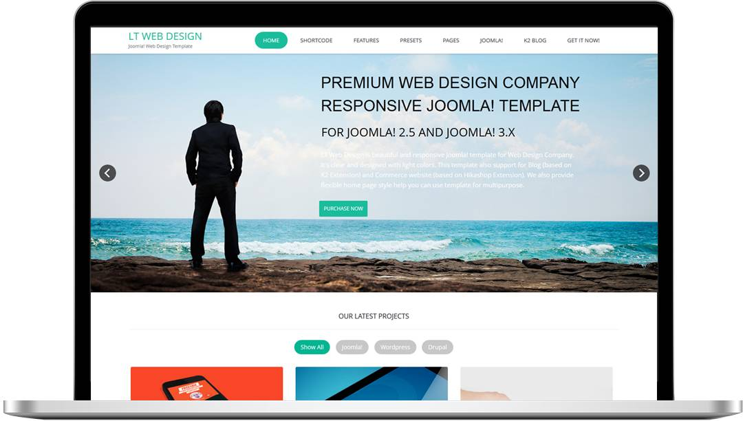Joomla Template Responsive One Page