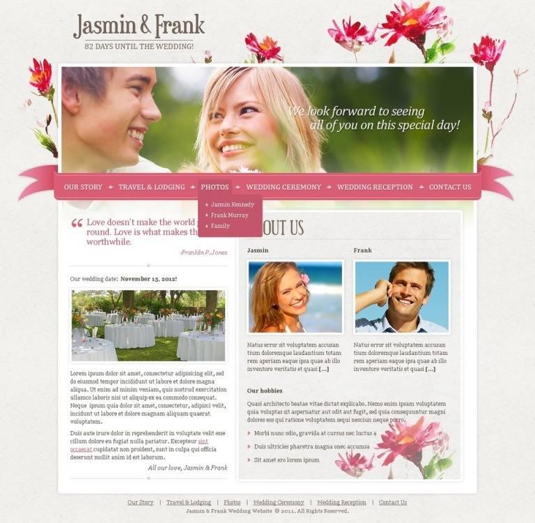 Joomla Template Wedding Planner