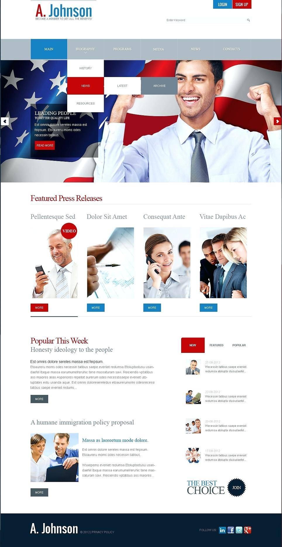 Joomla Templates Political Campaign