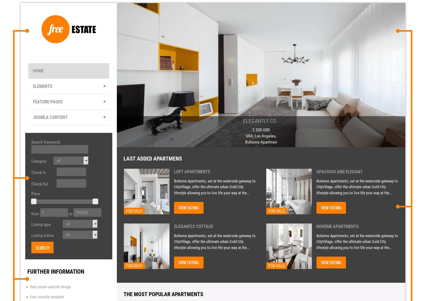 Joomla Templates Real Estate Free