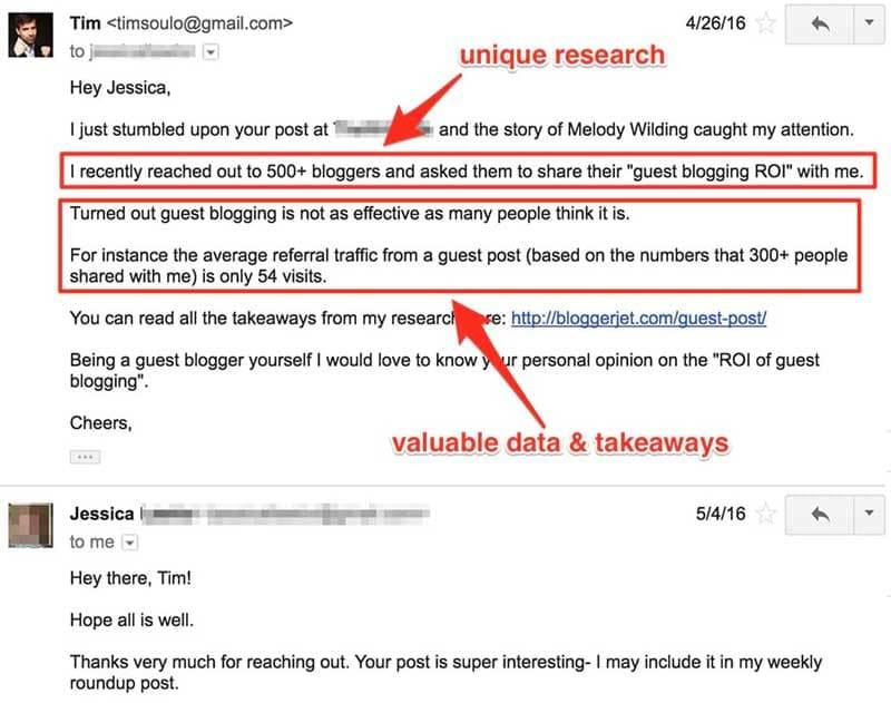 Journalist Outreach Email Template