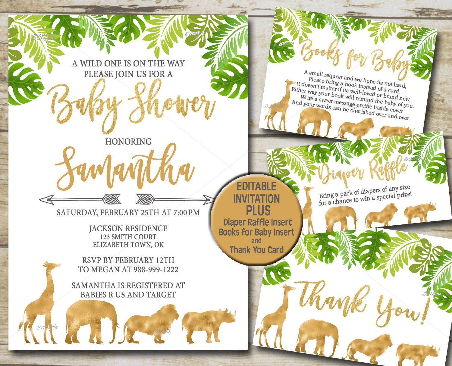 Jungle Book Invitation Template