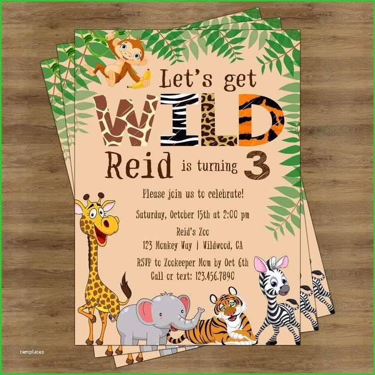 Jungle Invitation Template Free