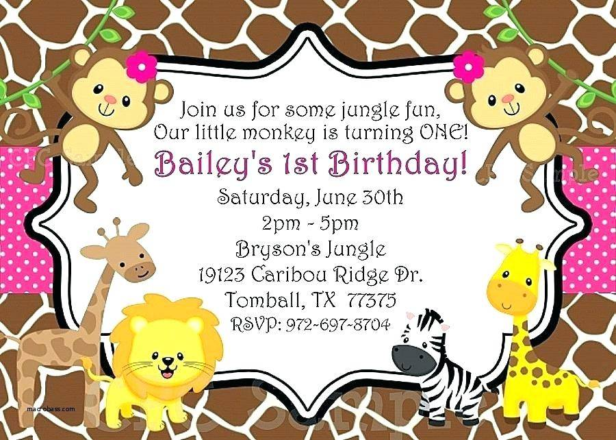 Jungle Party Invitation Template Free