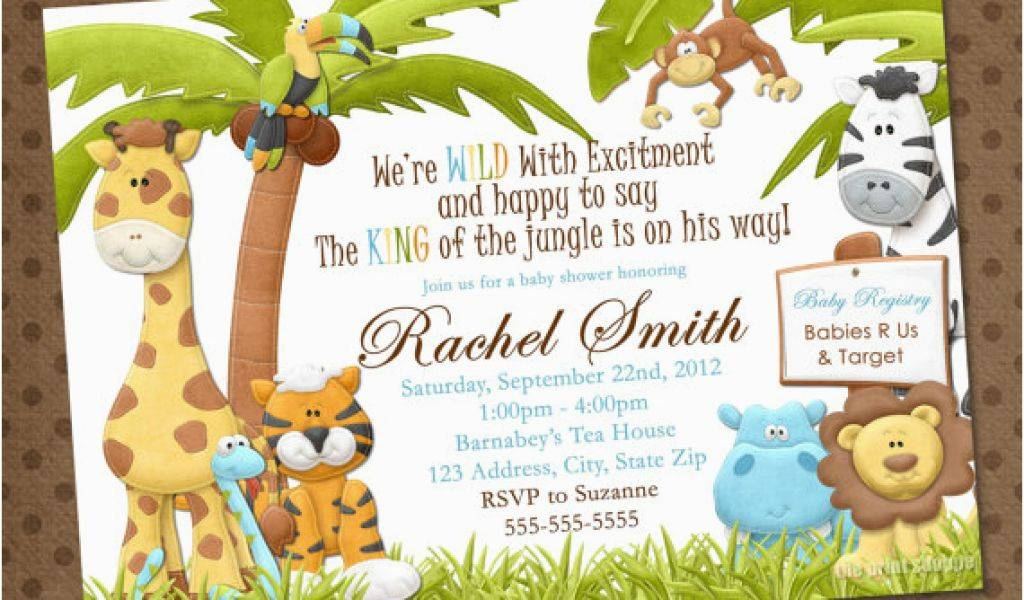 Jungle Theme Invitation Template Free