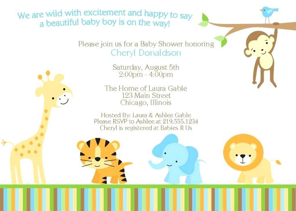 Jungle Themed Baby Shower Invitation Templates