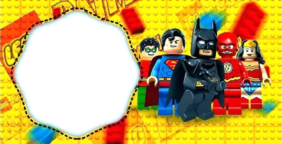 Justice League Invitation Template