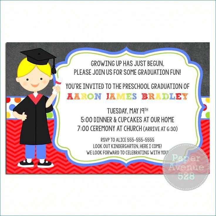Kindergarten Graduation Invitation Template Free