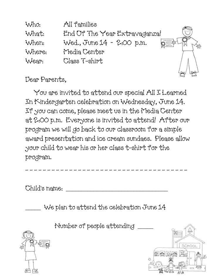 Kindergarten Graduation Invite Templates