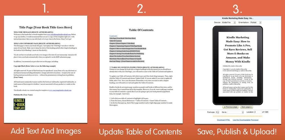 Kindle Ebook Template For Word
