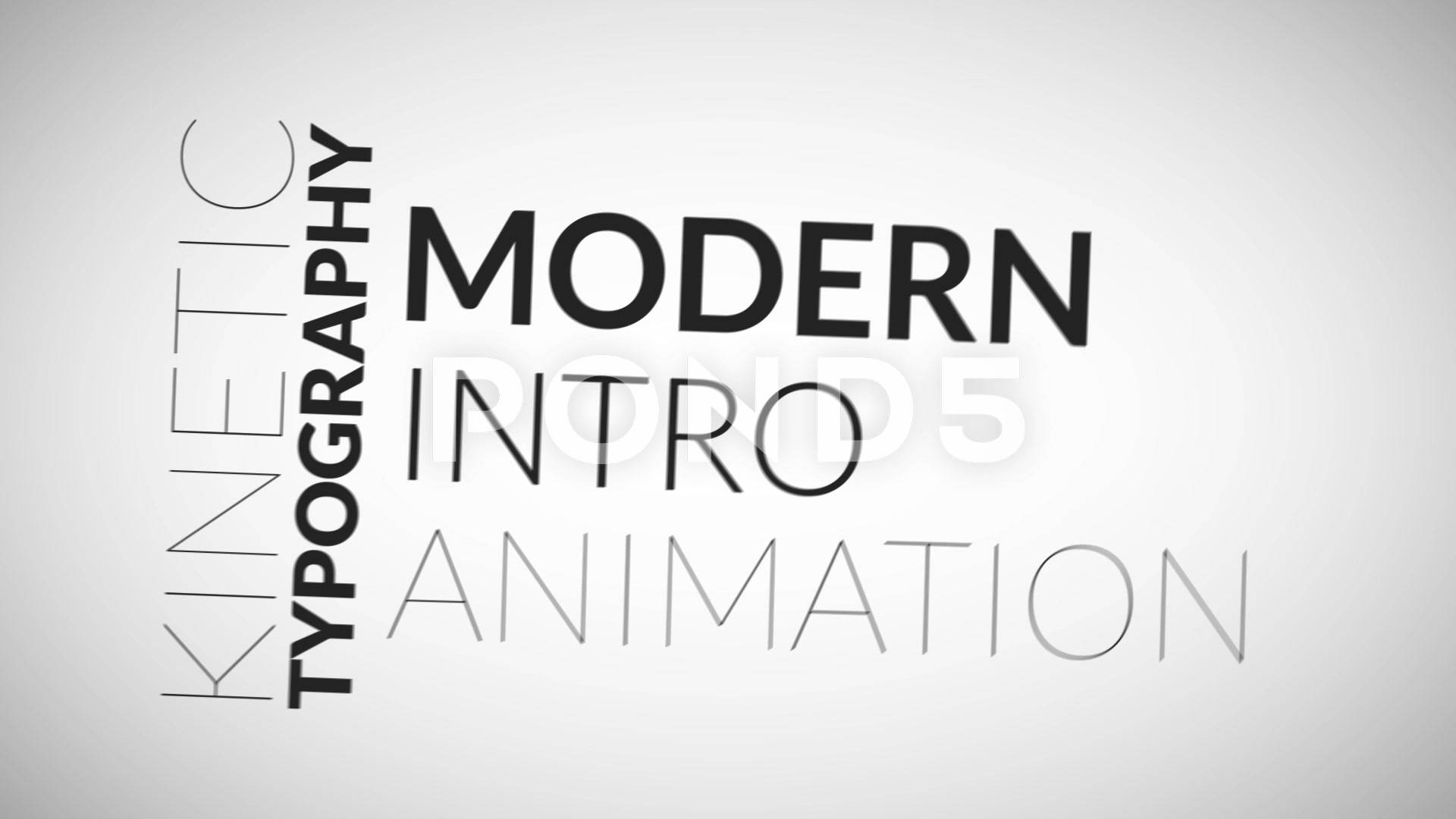 Kinetic Typography Pack After Effects Project (pond5)