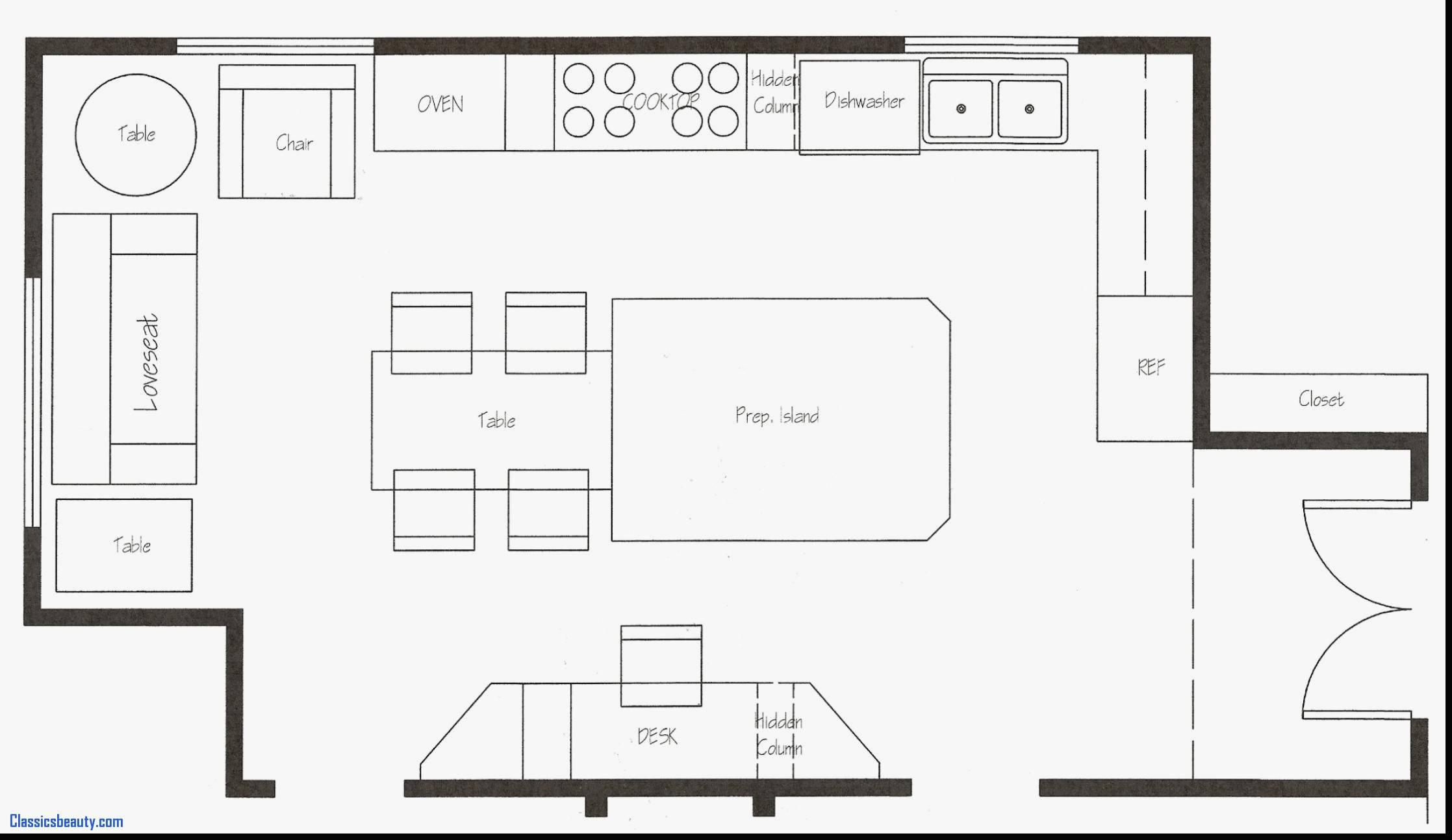 Kitchen Layout Templates Free