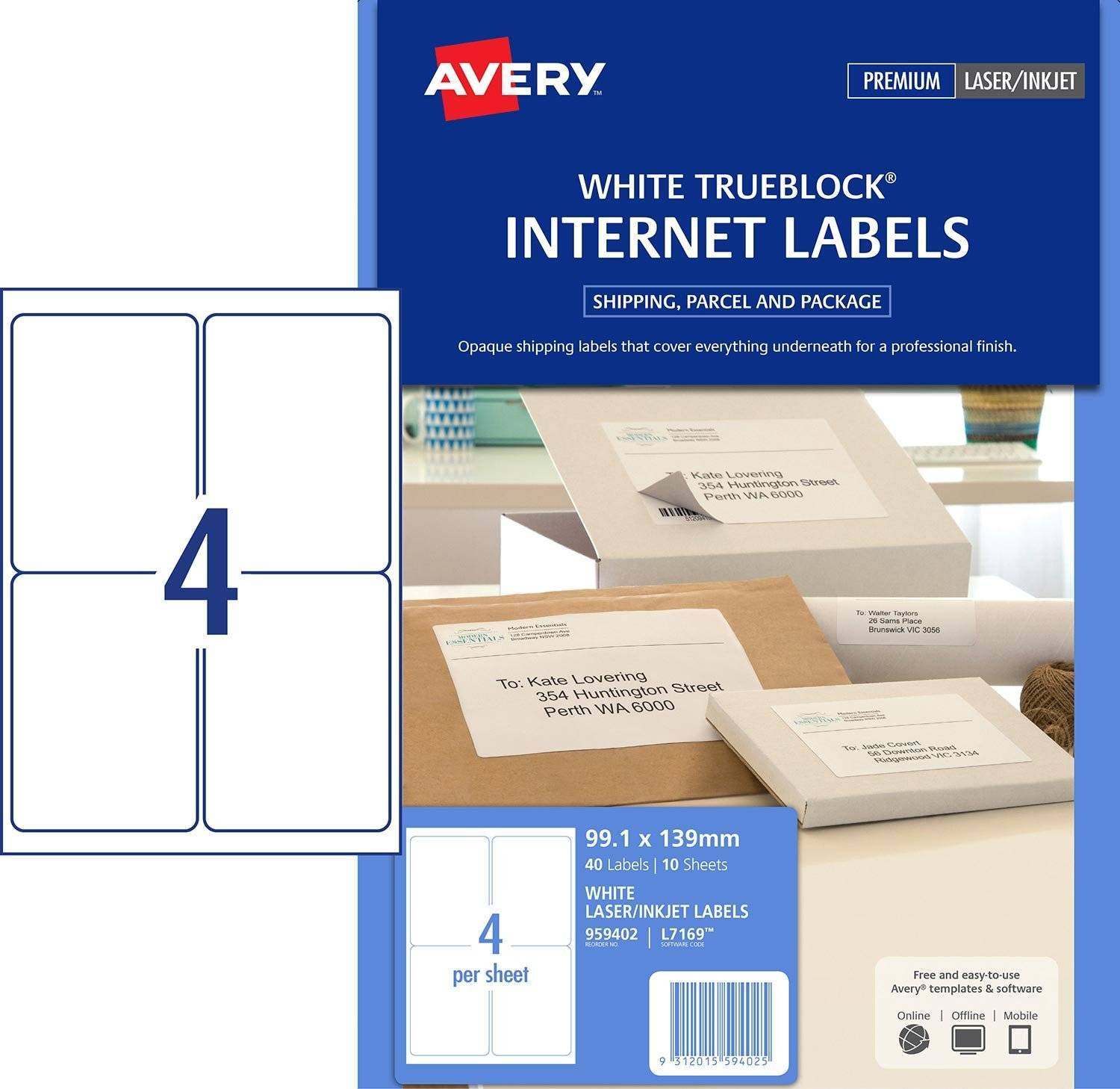 Label Printing Template 40 Per Sheet