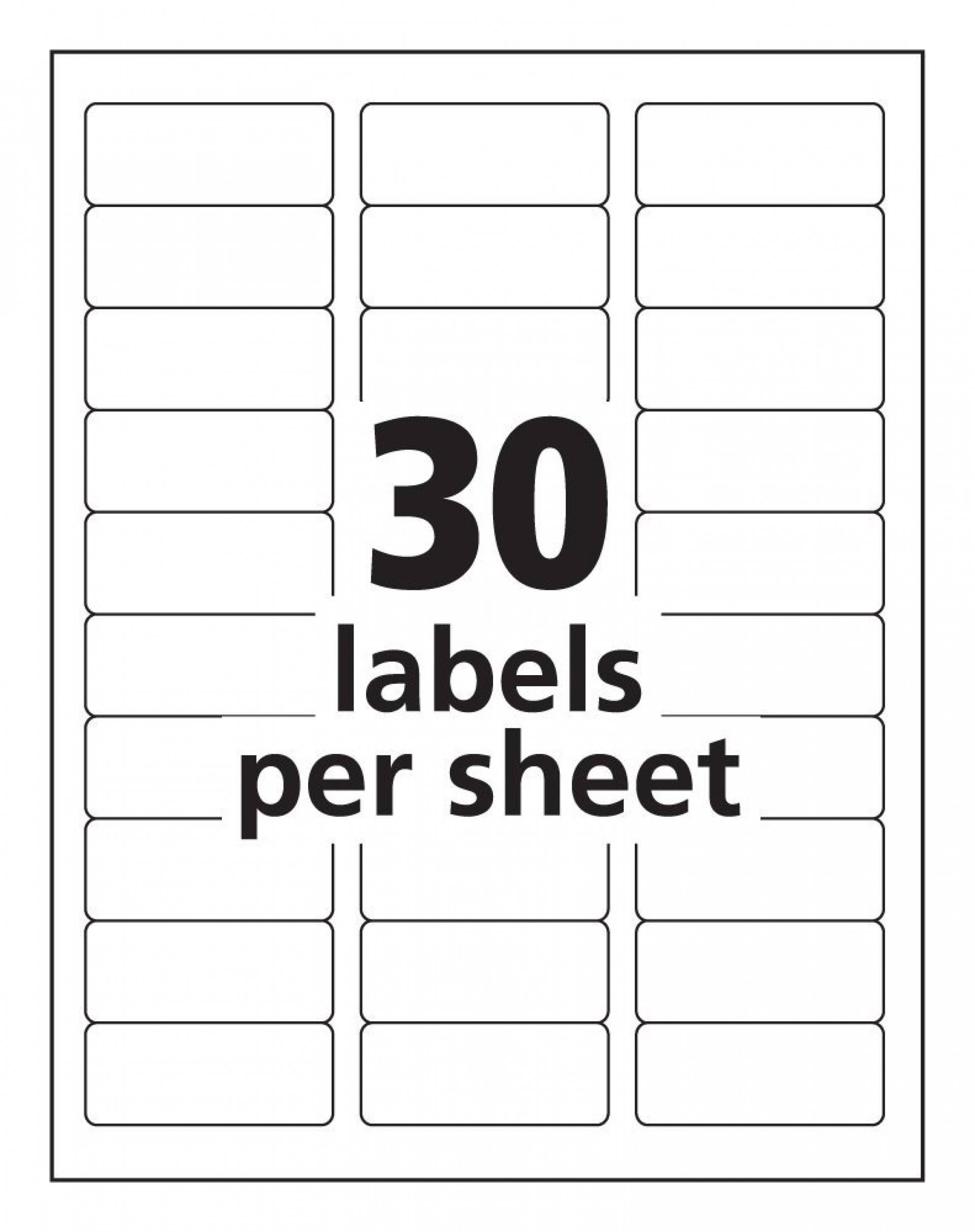 Labels For Mailing Templates