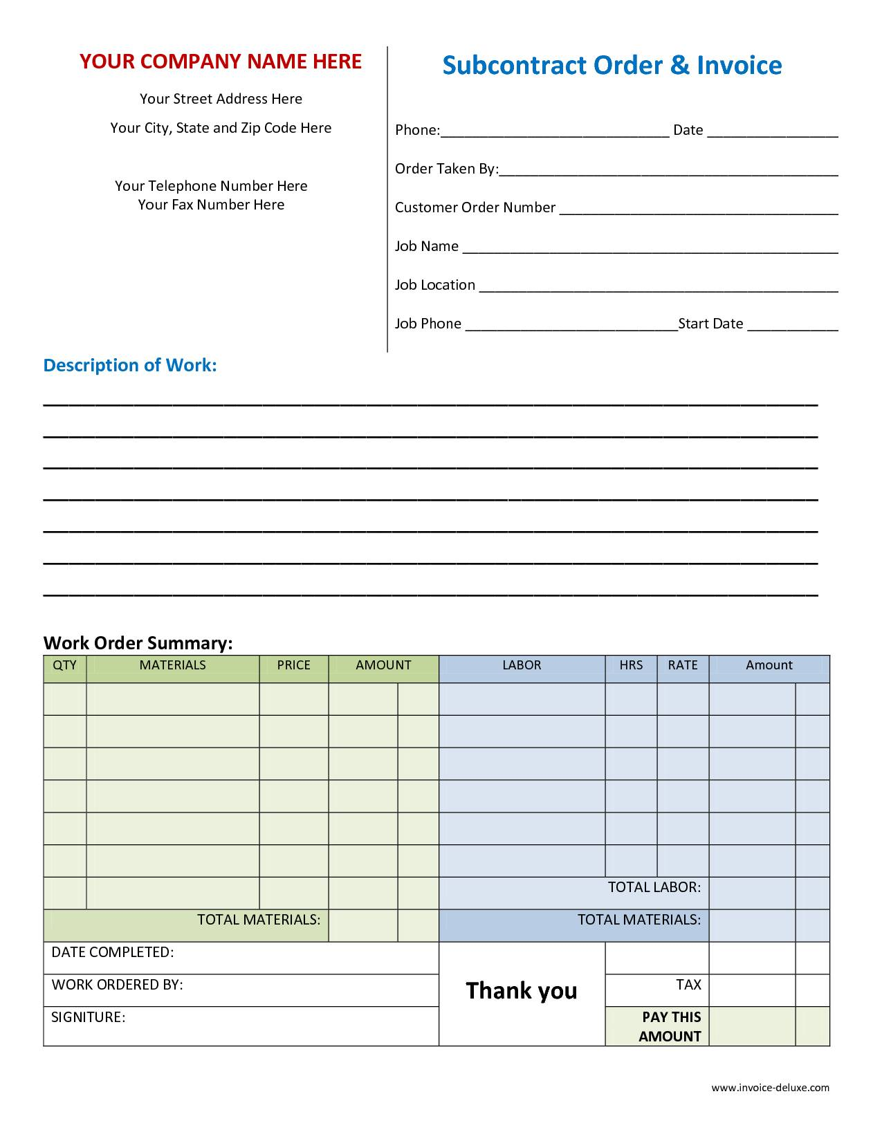 Labor Contract Example