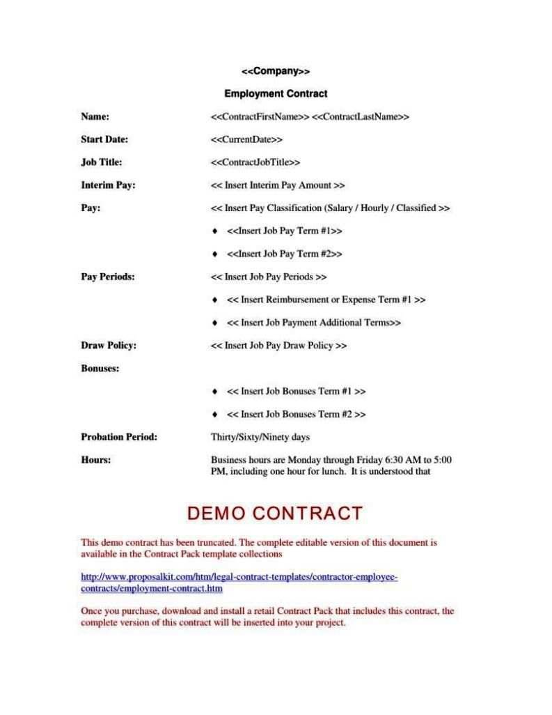 Labor Contract Form