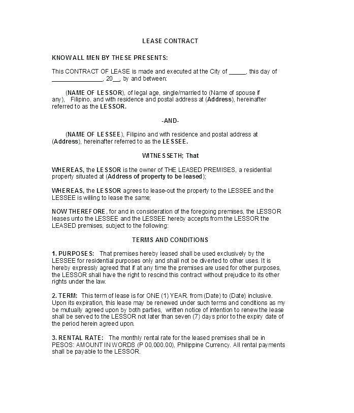 Land Rental Agreement Template Uk