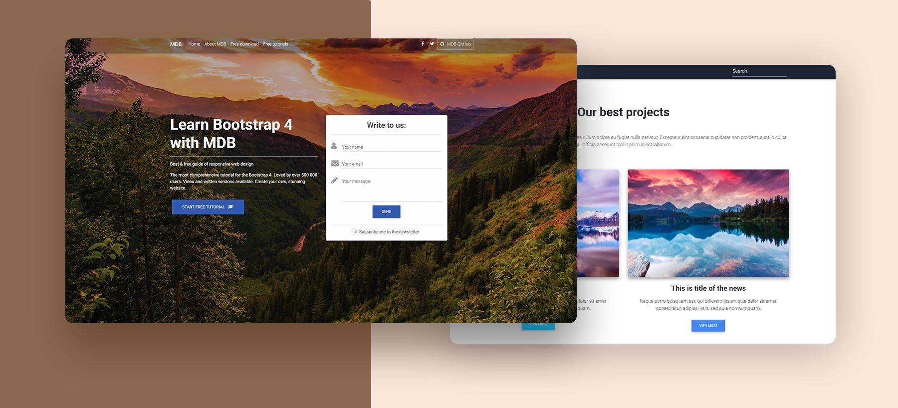 Landing Page Bootstrap Templates Free Download