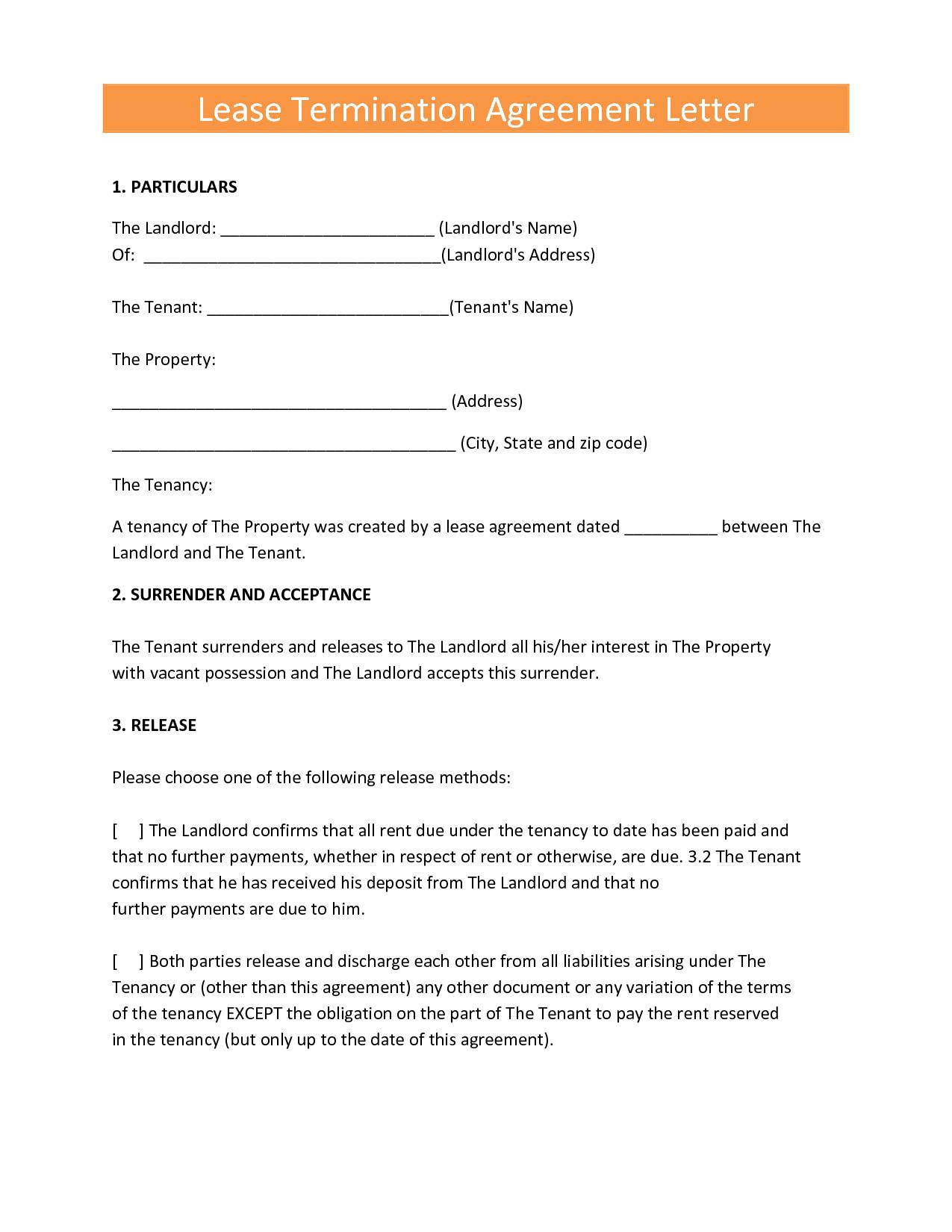 Landlord Contract Form For Tenants
