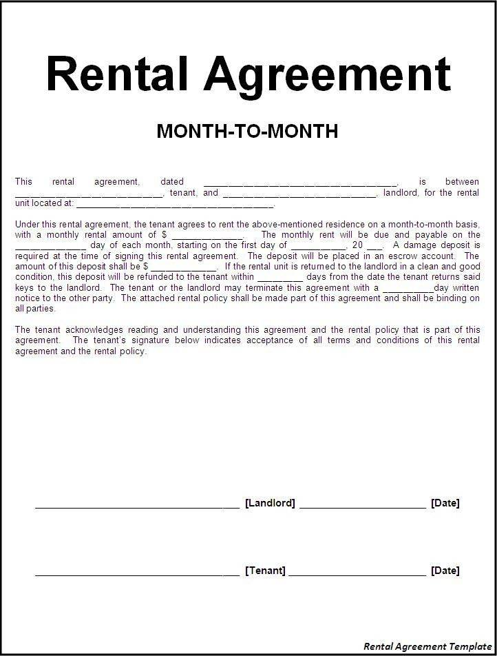 Landlord Contract Template Free