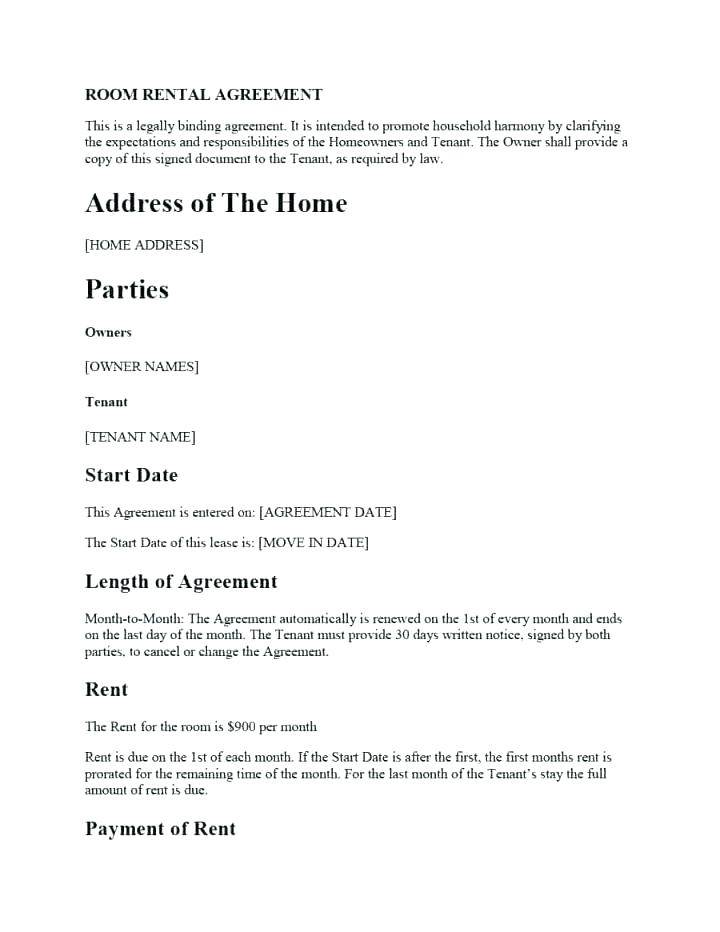 Landlord Contract Template