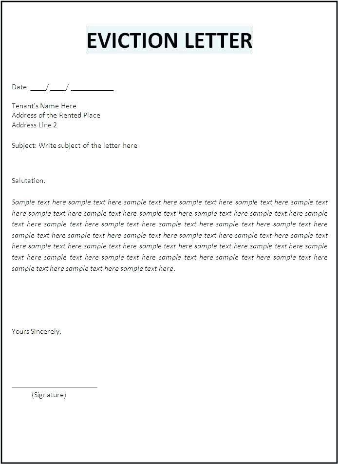 Landlord Ending Tenancy Letter Template