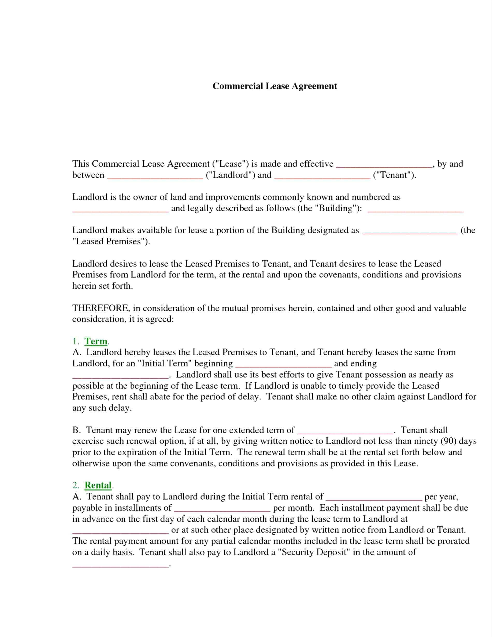 Landlord Notice Termination Lease Template