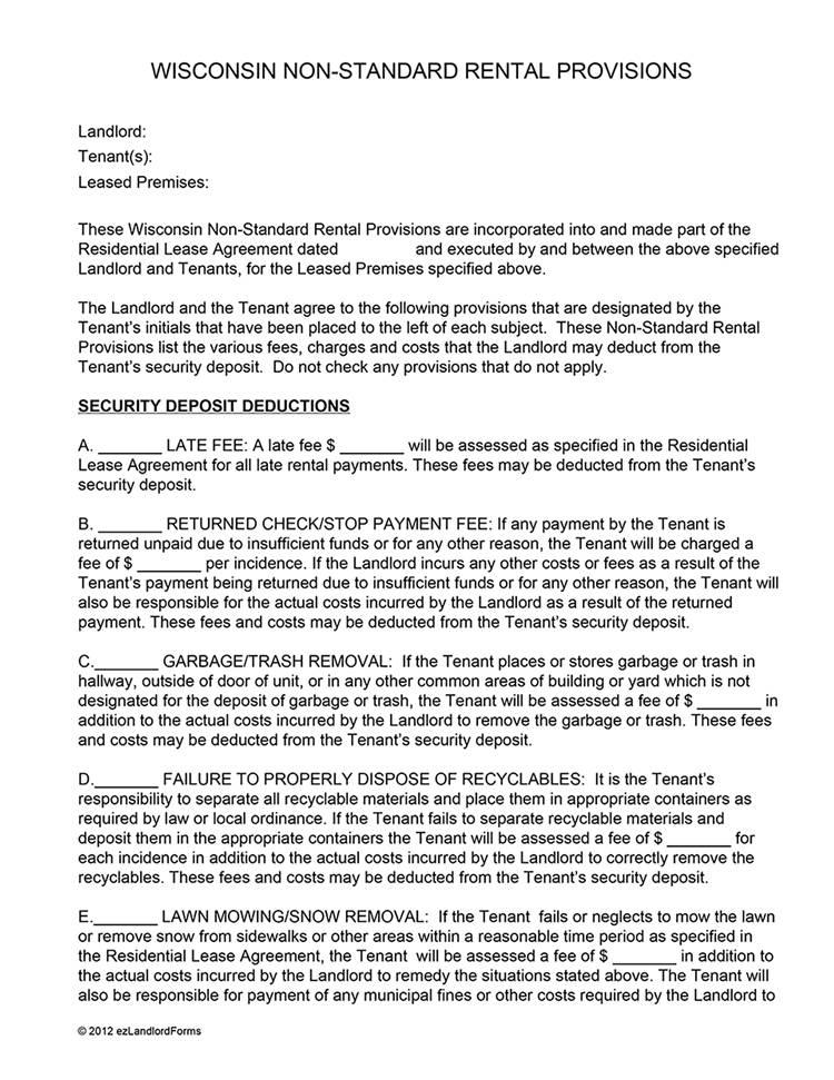 Landlord Rental Agreement Form