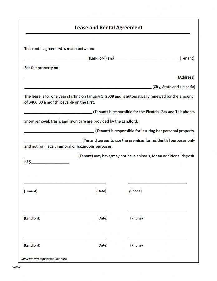 Landlord Rental Agreement Template Uk