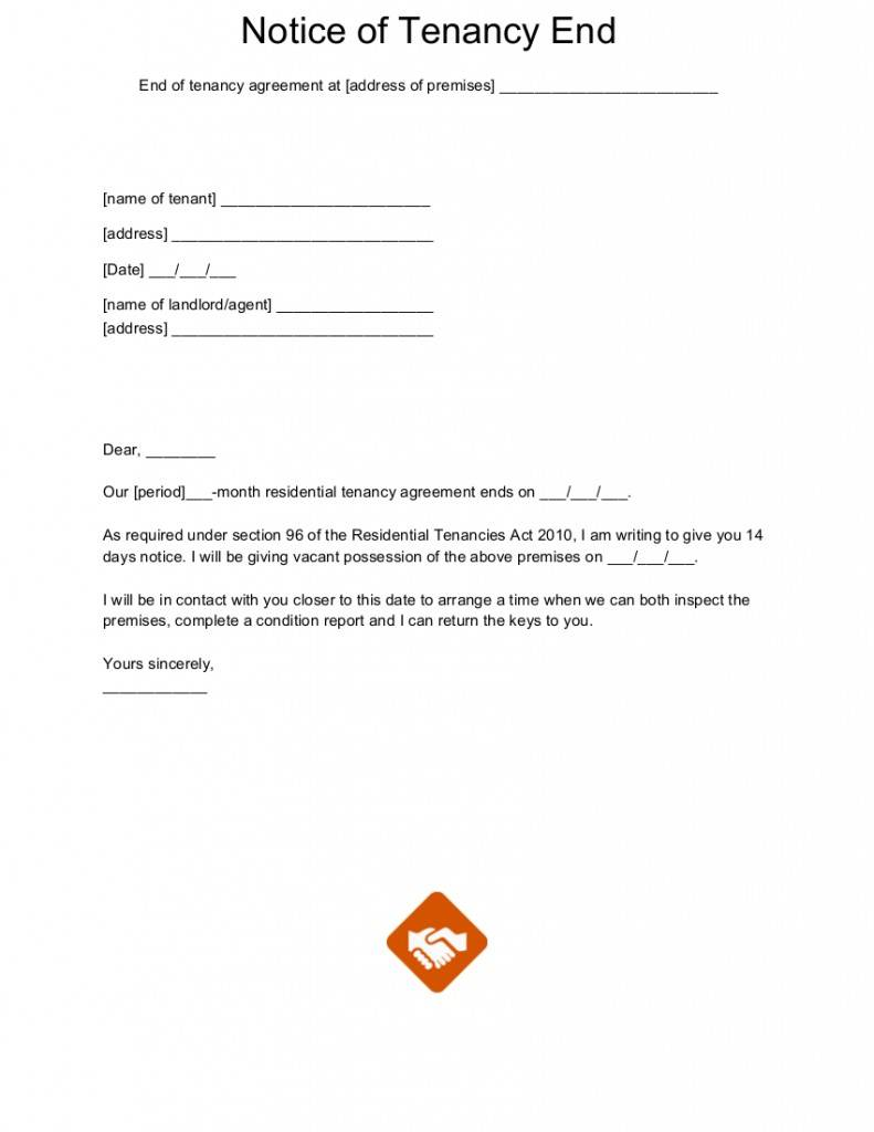Landlord Tenancy Notice Letter Template