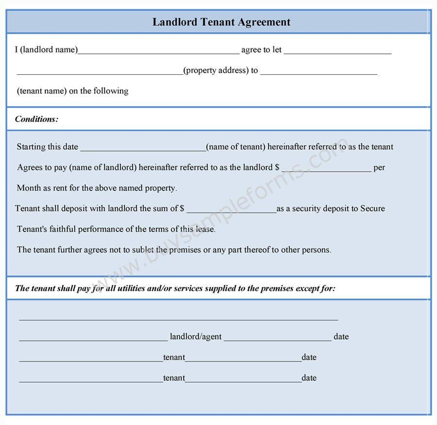 Landlord Tenant Agreement Template
