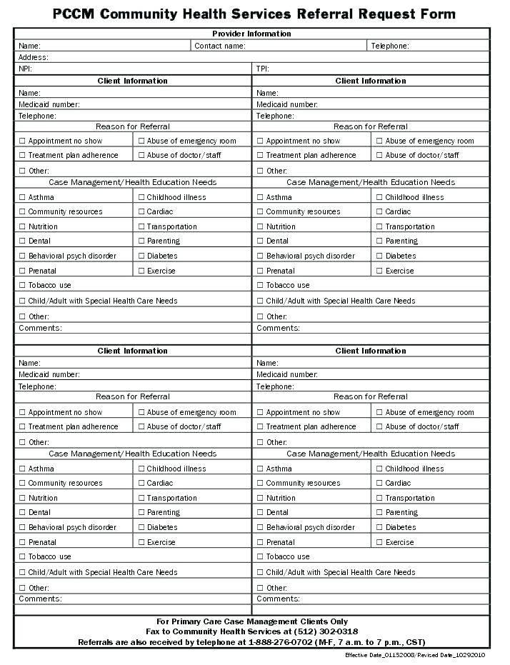 Landmark Chiropractic Treatment Plan Form