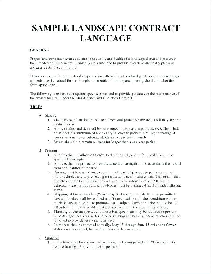 Landscape Contract Agreement Template