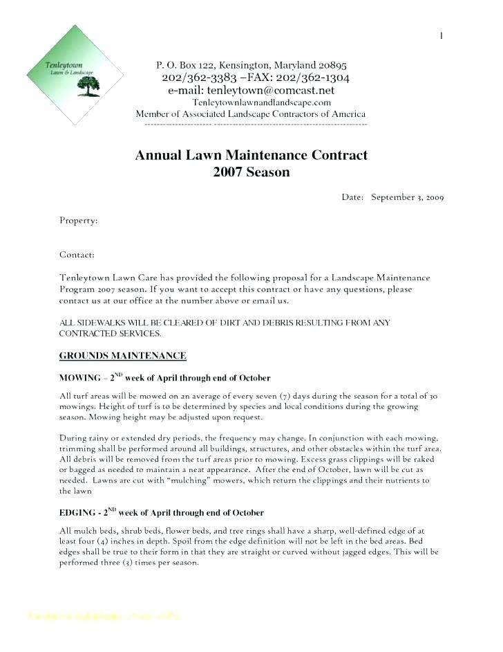 Landscape Design Contract Template Free